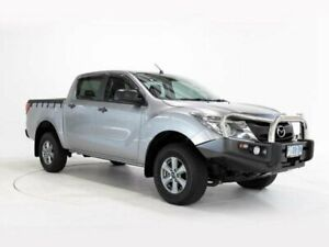2016 Mazda BT-50 MY16 XT (4x4) Silver 6 Speed Automatic Dual Cab Utility Devonport Devonport Area Preview