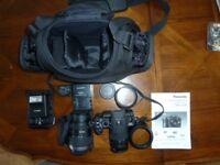 Lumix DMC-G1K Camera + Lenses Etc.