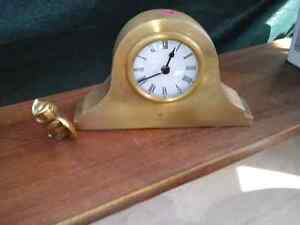 Solid Brass Desk Clock from Bombay Company