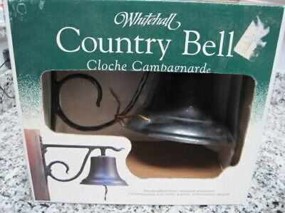 Whitehall Bell With Bracket Dinner Large Country Bell Black Wall Outside Kitchen Black Large Country Bell