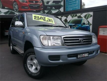 2002 Toyota Landcruiser FZJ105R GXL (4x4) Blue 4 Speed Automatic 4x4 Wagon Greenacre Bankstown Area Preview