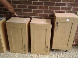 3 light oak kitchen units and doors