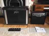 Peavey Deuce VT series model 212 amp & Line 6 Spider II amp