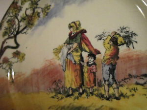"""Vintage Royal Doulton - Old English Scenes """"The Gleaners"""" Plate"""