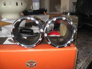 4 inch Chrome exhaust end caps for Rinehart slip- ons ,or duels