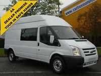 2012/ 62 Ford Transit 2.2Tdci 125 350L Minibus 9-Seat D/Crew Cab window van