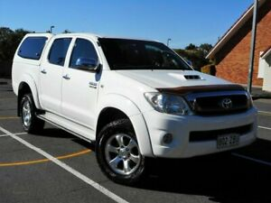 2010 Toyota Hilux KUN26R MY10 SR5 White 4 Speed Automatic Utility Chermside Brisbane North East Preview