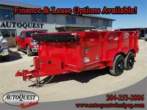 "Diamond C 46ED 12' x 77"" Dump Trailer - 9 890 lbs"
