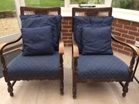 Pair of Cane-backed Armchairs for Sale