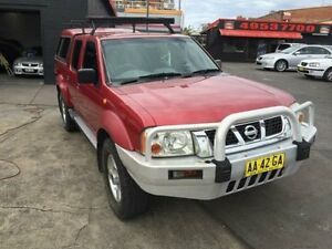 2004 Nissan Navara D22 ST-R (4x4) Red 5 Speed Manual Dual Cab Pick-up Cardiff Lake Macquarie Area Preview