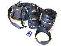 Canon EOS 450D 12.2 MP DSLR Camera with EF-S IS 18-55 lense + £180 OF EXTRAS