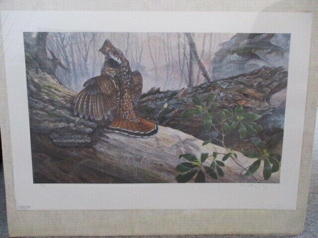 """""""Old Elm Grouse"""" 76/600 1988 Laura Mark-Finberg Print"""