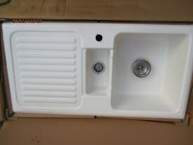 White Enamel Sink