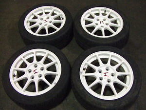 JDM HONDA ACURA INTEGRA DC2 TYPE-R WHITE MAGS WITH TIRES