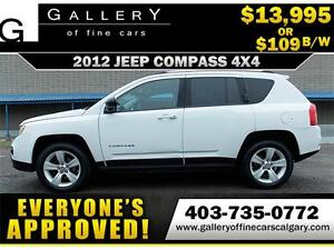 2012 Jeep Compass North 4x4 $109 bi-weekly APPLY NOW DRIVE NOW