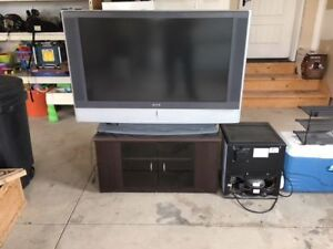 """H D 48"""" Flat screen TV and component stand For sale"""