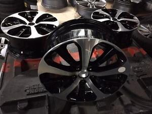 "OEM Kia 18"" Black with Machine face - take off brand new cars"