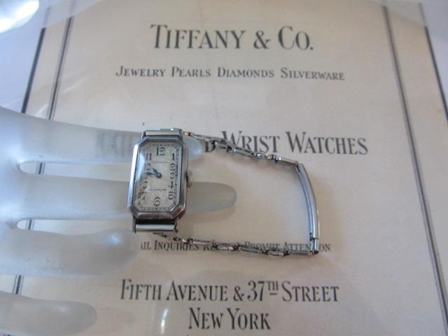 Vintage~Antique Tiffany & Co. Longines Art Deco Sterling Silver Ladies Watch