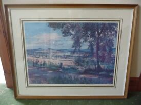 JAMES MCINTOSH PATRICK VIEW OVER CARSE OF GOWRIE TOWARDS DUNDEE LIMITED EDITION PRINT