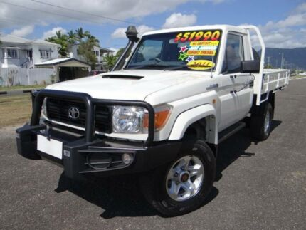 2011 Toyota Landcruiser VDJ79R 09 Upgrade GX (4x4) White 5 Speed Manual Cab Chassis Bungalow Cairns City Preview