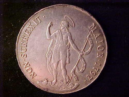 GENOA 8 LIRE 1797 BOLD VERY FINE