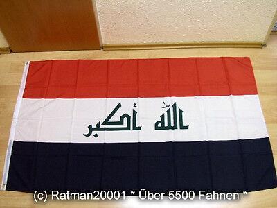 Fahnen Flagge Irak 2008 Sonderposten Neu - 90 x 150 cm