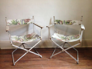 Antique French Iron Folding Chairs