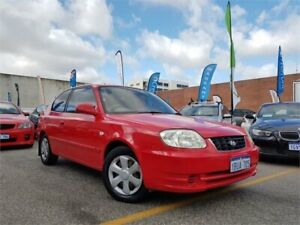 2004 Hyundai Accent LS 1.6 Red 5 Speed Manual Hatchback Osborne Park Stirling Area Preview