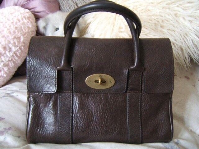 mulberry chocolate brown ledbury baby bayswater bag b6f1dc74a3fc4