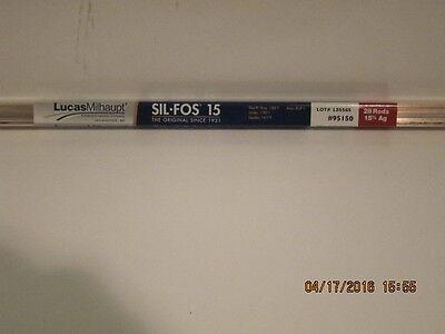 LUCAS-95150-MILHAUPT SIL-FOS 15 HVAC grade-1lb(28 rods)1tube-FREE PRI-SHIP NEW!!