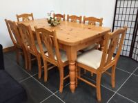 8 Place Dining Room Table And Chairs