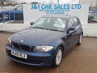 BMW 1 SERIES 2.0 116D ES 5d 114 BHP GREAT HISTORY 7 SERVICE STA (blue) 2010