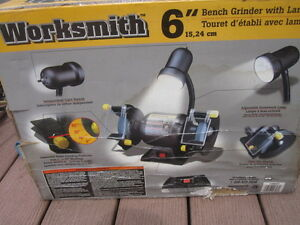 """6"""" Grinder with Grinding Wheels, Light & Goggles Kawartha Lakes Peterborough Area image 2"""