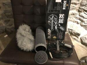 Matériel audio de tournage - perche, micro, speakers, mixer