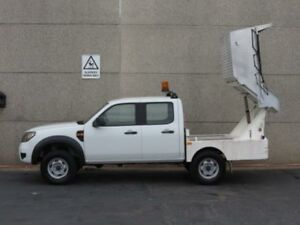2009 Ford Ranger PK XL Hi-Rider (4x2) White 5 Speed Automatic Dual Cab Chassis Revesby Bankstown Area Preview