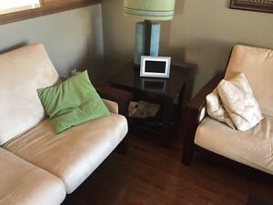 Micro fibre couch, chair, sofa, two end tables and coffee $500 Regina Regina Area image 2
