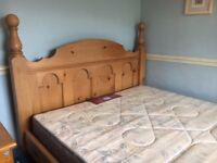 Double Pine Gothic Bed Frame