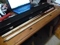 MBS 57 inch cue + case