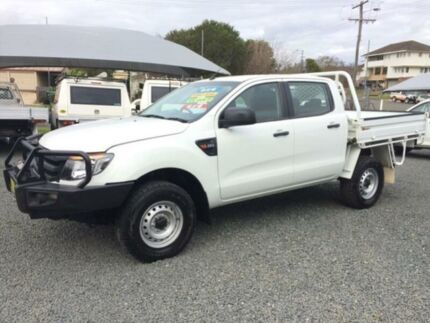 2012 Ford Ranger PX XL 2.2 (4x4) White 6 Speed Manual Crewcab Gloucester Gloucester Area Preview