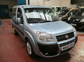60 FIAT DOBLO WHEELCHAIR ADAPTED 50 + ADAPTED VEHICLES IN STOCK