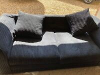 3 seater and 2 seater sofas jumbo cord fabric very good condition.
