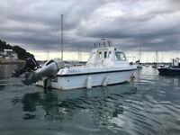 PIRATE 21 fishing boat for sale . Honda 115hp 4-stroke .