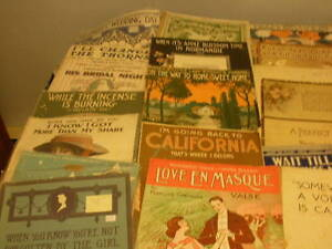 50 Sheets of music, large and regular size 1910---1960s