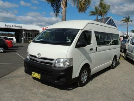 2012 Toyota Hiace KDH223R MY11 Upgrade Commuter White 4 Speed Automatic Bus Nowra Nowra-Bomaderry Preview