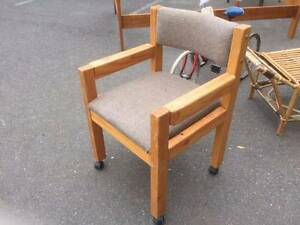70's/80's Pine Desk Chair