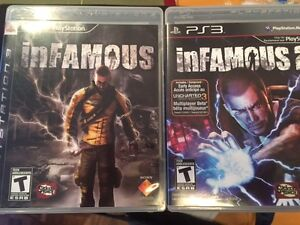 PS3 inFAMOUS 1+ 2 OR $10 each
