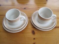 24 x Three Piece Sets (Can Split) Steelite International Hotel Quality Cups, Saucers & Side Plates