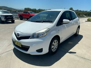 2012 Toyota Yaris NCP130R YR White 4 Speed Automatic Hatchback Muswellbrook Muswellbrook Area Preview