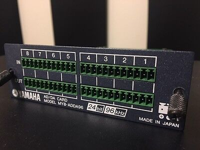 Yamaha MY8-ADDA96 - Analog I/O Card :  02R96 01V96 LS9 DM1000 DM2000 AW2816 AW2 for sale  Round Rock