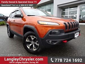 2015 Jeep Cherokee Trailhawk W/ SAFETY TEC GROUP, FULL PARK A...
